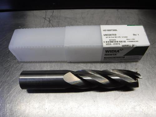 """Widia/Hanita Varimill GP 1"""" 4 Flute Carbide Endmill 14S1000T300L (LOC1498B)"""
