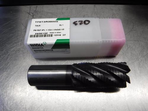 "Widia/Hanita 1.5"" 6 Flute HSS Roughing Endmill TF6T3R38009 (LOC1498A)"