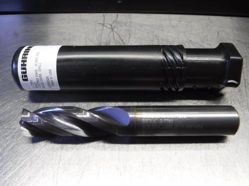 """Guhring 19.050mm / 3/4"""" 3 Flute Carbide Drill 19mm Shank J-7781 (LOC2126B)"""