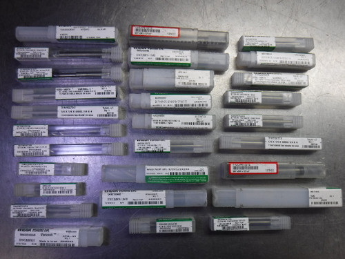 Lot of 29 Widia Hanita Solid Carbide Endmills Various Types and Sizes (LOC1584)