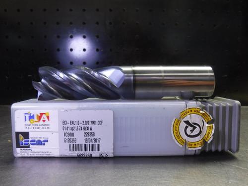 "Iscar ChatterFree 1"" Carbide Endmill 4 Flute ECI-E4L1.0-2.0/2.7W1.0CF (LOC2747A)"