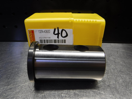"""Sandvik Cylindrical Shank W/ 3 Flats 40mm OD 1.250"""" ID 132N-40A20 (LOC616)"""