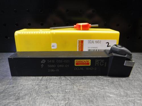 "Sandvik 1"" X 1"" Indexable Lathe Tool Holder DCLNL164D-2 (LOC616)"