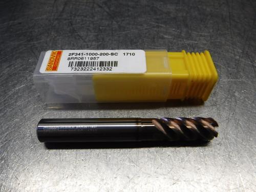 Sandvik 10mm 5 Flute Carbide Endmill 10mm Shank 2F341-1000-200SC 1710 (LOC2193B)