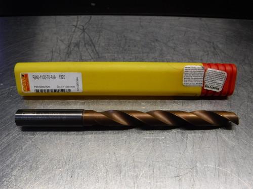 Sandvik 11mm Carbide Coolant Thru Drill 12mm Shank R840-1100-70-A1A 1220 (LOC2219)