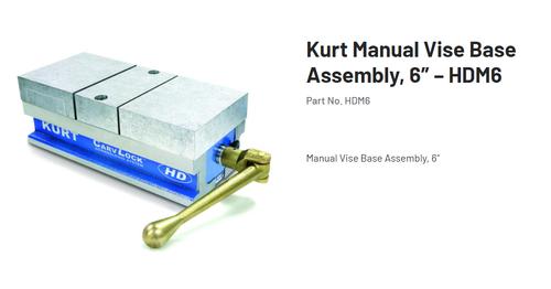 "Kurt CarvLock 6"" Manual Vise w/ Aluminum 1.73"" Height Jaw Kit HDM6 (STK)"