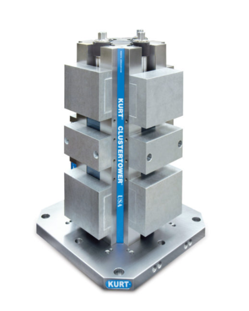 "Kurt Long Manual ClusterTower 400 mm Base w/ 6"" Aluminum Jaws CTHDLM644AL (STK)"
