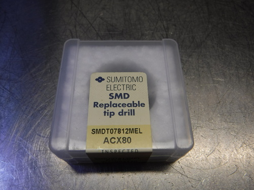 "Sumitomo 25/32"" Carbide Drill Inserts QTY1 SMDT07812MEL ACX80 (LOC1124A)"