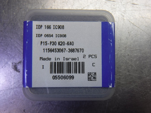 """Iscar .654"""" Replaceable Drill Tip QTY2 IDP 166 / IDP 0654 IC908 (LOC2082A)"""