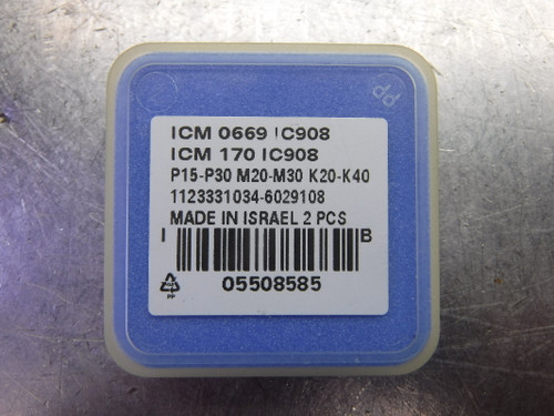 """Iscar .669"""" Replaceable Drill Tip QTY2 ICM 0669 / ICM 170 IC908 (LOC2613A)"""
