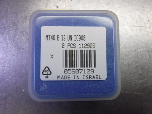 Iscar Carbide Thread Mill Inserts QTY2 MT40 E 12 UN IC908 (LOC2108D)