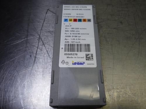 Iscar Cermet Inserts QTY10 WNMG 432-WG / WNMG 080408-WG IC520N (LOC1843A)