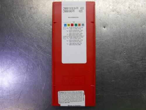 Sandvik Carbide Inserts QTY10 CNMM 19 06 24-PR / CNMM646-PR 4325 (LOC2148A)