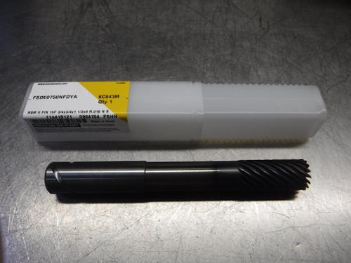 "Kennametal 3/4"" 15 Flute Carbide Finish Endmill FSDE0750NFDYA KC643M (LOC693B)"