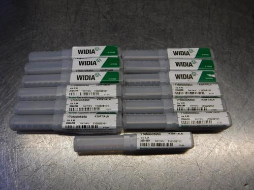 """Widia 0.234"""" Carbide Drill 0.236"""" Shank QTY13 17050005950 (LOC951)"""