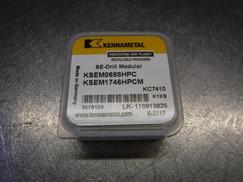 "Kennametal .6874"" Carbide Insert QTY1 KSEM0688HPC/KSEM1746HPCM KC7410 (LOC1312A)"