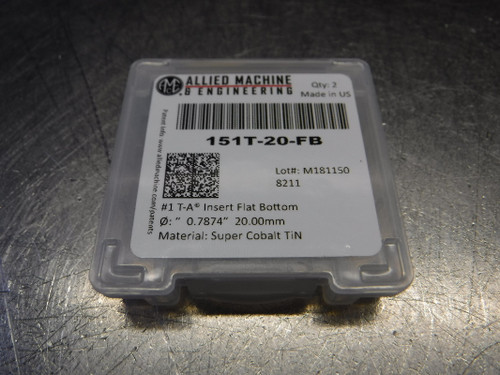 AMEC 20mm Super Cobalt Spade Drill Inserts QTY2 151T-20-FB (LOC2033B)