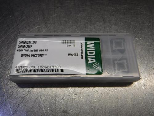 Widia Victory Carbide Inserts QTY10 CNMG433FF / CNMG120412FF WK20CT (LOC2893B)