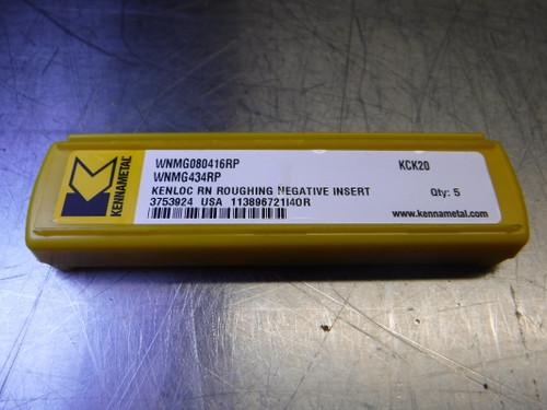 Kennametal Carbide Inserts QTY5 WNMG080416RP / WNMG434RP KCK20 (LOC2078D)