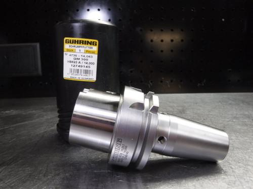 Guhring HSK63A 14mm Shrink Fit Holder 92mm Projection 12749145 (LOC1371B)