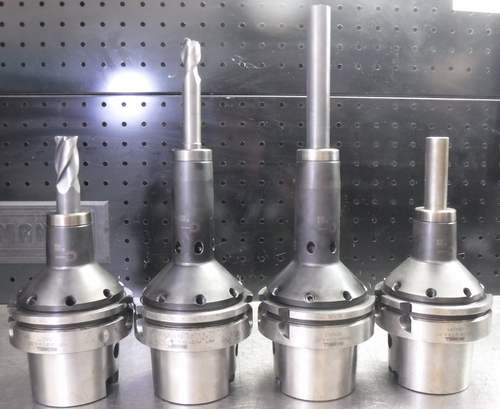 """Lot of 4 Richmill HSK100A Shrink Fit Tool Holders (3) 3/4"""" & (1) 5/8"""" (LOC57)"""