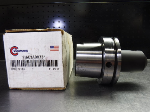 """Command HSK100A 7/8"""" Endmill Holder 3.75"""" Projection H6E3A0875 (LOC1993A)"""