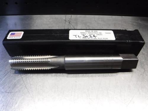 """Widell HSS 1-8 H4 Plug Tap 1"""" Shank 1-8 H4 4FL 8"""" OAL PLLY PLUG (LOC1580)"""