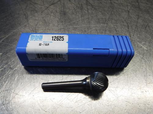 """SGS 3/4"""" Carbide Burr 1/4"""" Shank QTY:5 SD-7 BUR (LOC1276A)"""