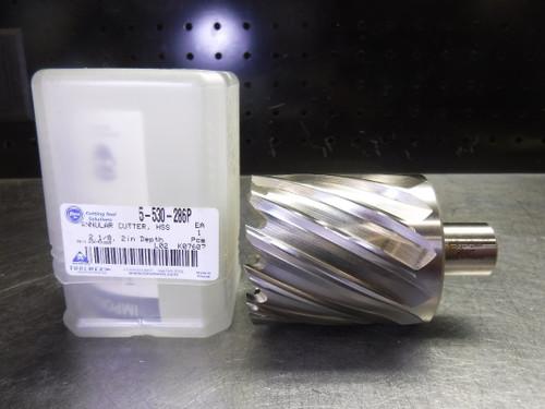 "ToolMex 2-1/8"" HSS Annular Cutter 3/4"" Shank with 2 Flats 5-530-286P (LOC3026B)"
