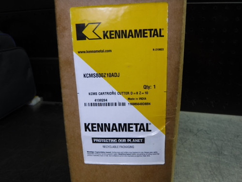"""Kennametal 8"""" Indexable Facemill 2.5"""" Arbor KCMS800Z10ADJ (LOC1600)"""