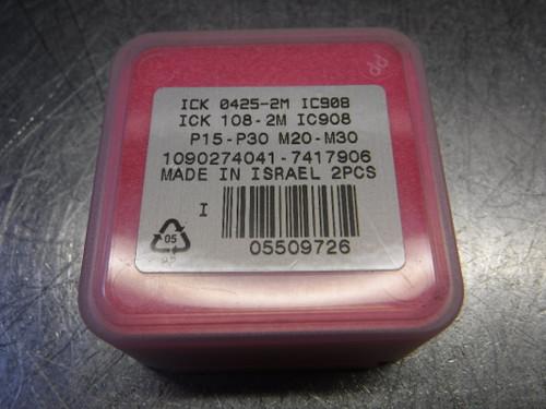 "Iscar 0.425"" Carbide Drill Tip Inserts QTY2 ICK 0425-2M IC908 (LOC2125A)"