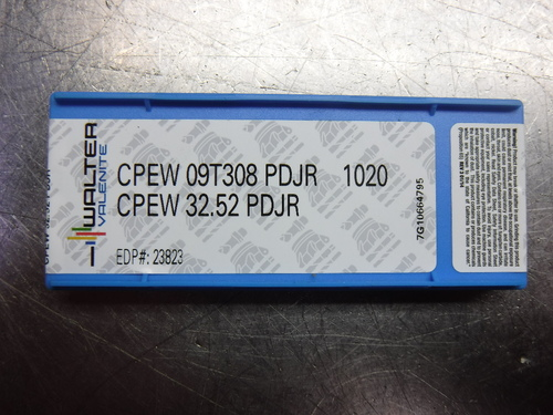Walter Carbide Inserts QTY10 CPEW 09T308 PDJR / CPEW 32.52 PDJR 1020 (LOC1598A)
