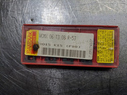 Sandik  Carbide Insert WCMX 06 T3 08 R-53 3015 QTY:10 (LOC614)