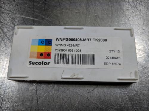 Seco  Carbide Insert WNMG 080408-MR7 / WNMG 432-MR7 TK2000 QTY:10 (LOC588A)