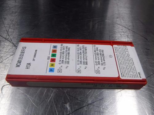 Sandivk Carbide Inserts WCMX 05 03 08 R 53 H13A (LOC620)
