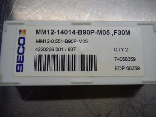 "Seco 0.551"" Multi Master Carbide Insert Qty2 MM12 0551 B90P M05 F30M (LOC2172)"