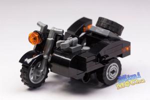 Custom Minifigures German Soldier Motorcycle MOC Brick MiniMOCha