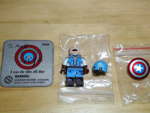 Custom Minifigures Life Brick USA Captain 2nd Hand