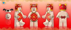 Custom Minifigures Fantastic Lamp Lunar New Year Kids Set