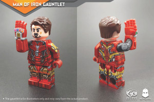 Custom Minifigures Minfinity MA Figure Man of Iron Gauntlet