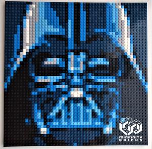 Minfinity Custom Starwar Darth Vader Mosaic Plate 48 x 48