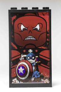 LEGO Custom Accessory Window Frame Captain and Red Skull 1x4x6