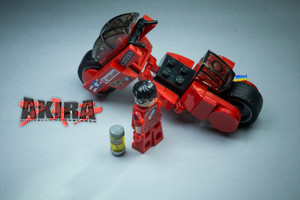 Custom Minifigures MiniMOCha Akira Motorcycle MOC Set 2021