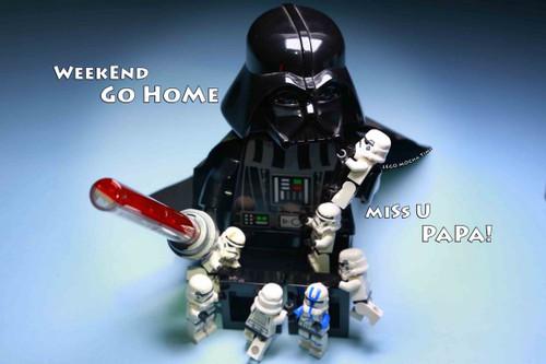 Digital Photo Starwar Darth Vader Dad and Son