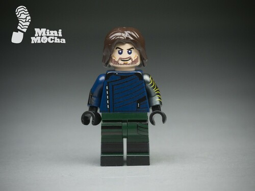 Custom Minifigures MiniMOCha Winterhero Brother of Captain