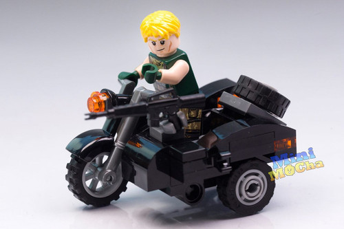 Custom Minifigures US Soldier Motorcycle MOC Brick MiniMOCha