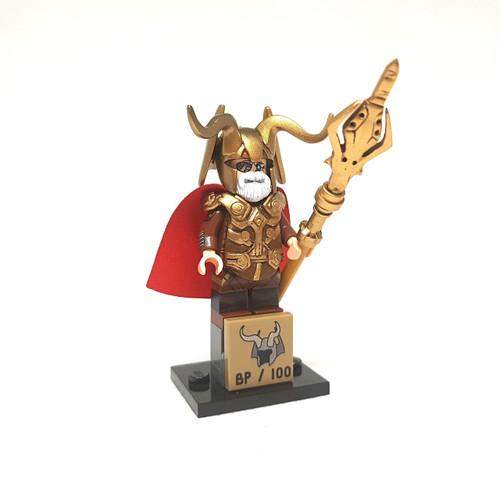 Custom Minifigures Bricks Part Odin