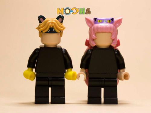 Custom Minifigures H.Dou Brick Cat & Dog Helmets Preorder