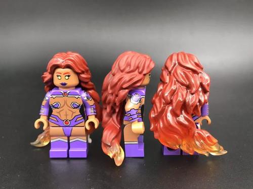 Star fire Superhero Printed On LEGO Parts Custom Designed Minifigure