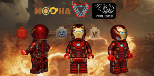 Custom Minifigures MiniMOCha x Poke Brick MK50 Steelman